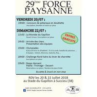 Force Paysanne 2018