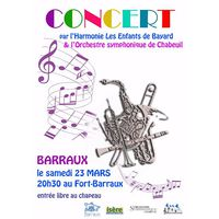 Concert de printemps au Fort barraux