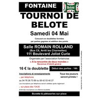 Tournoi de Belote de printemps