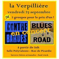 Concert Rock à la Vepillière : les Contrebardes et Blues Road