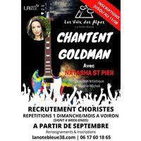 Choristes LES VOIX DES ALPES CHANTENT GOLDMAN AVEC NATASHA ST PIER